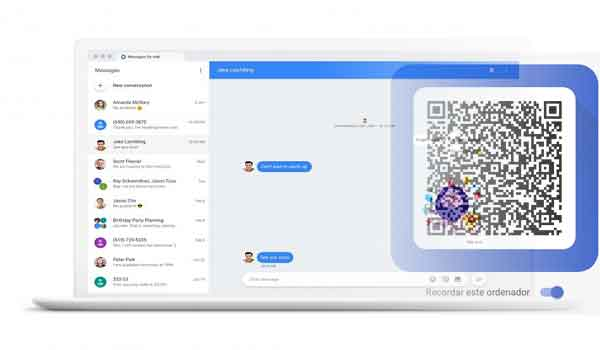 Android Messages versión web