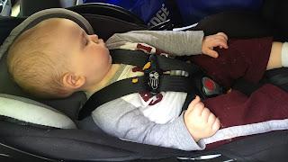 sleeping baby traveling