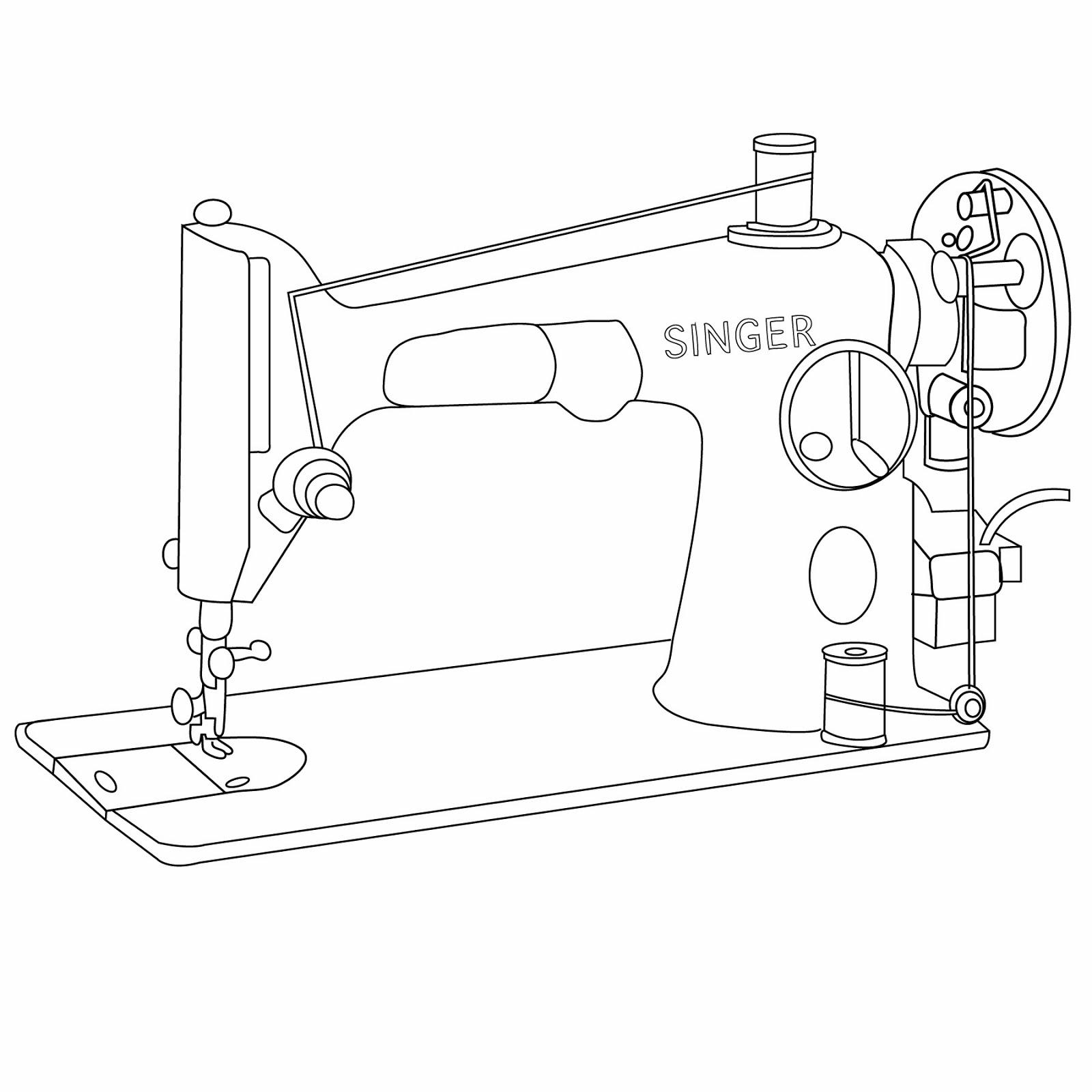 Rhoda Design Studio Singer Sewing Machine Free Graphic