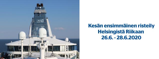 Kesän ensimmäinen risteily  Helsingistä Riikaan 26.6. - 28.6.2020