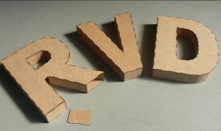 Decoración con letras en 3D