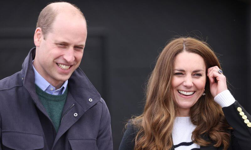 Kate Middleton wore a new double breasted blazer from Holland Cooper, and a new cashmere stripe jumper from Erdem