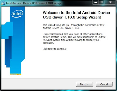 Cara Install Driver USB Android intel