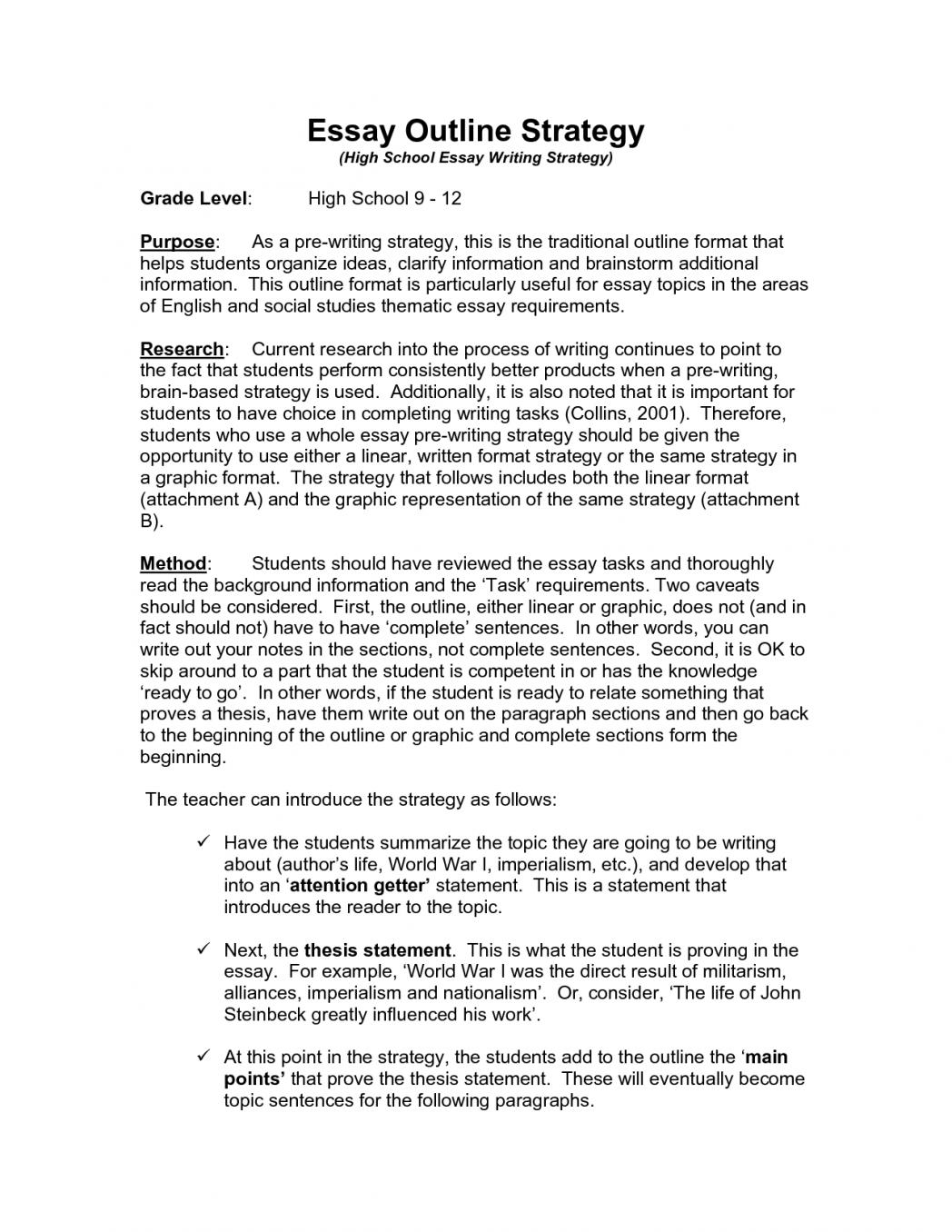 College vs high school essay
