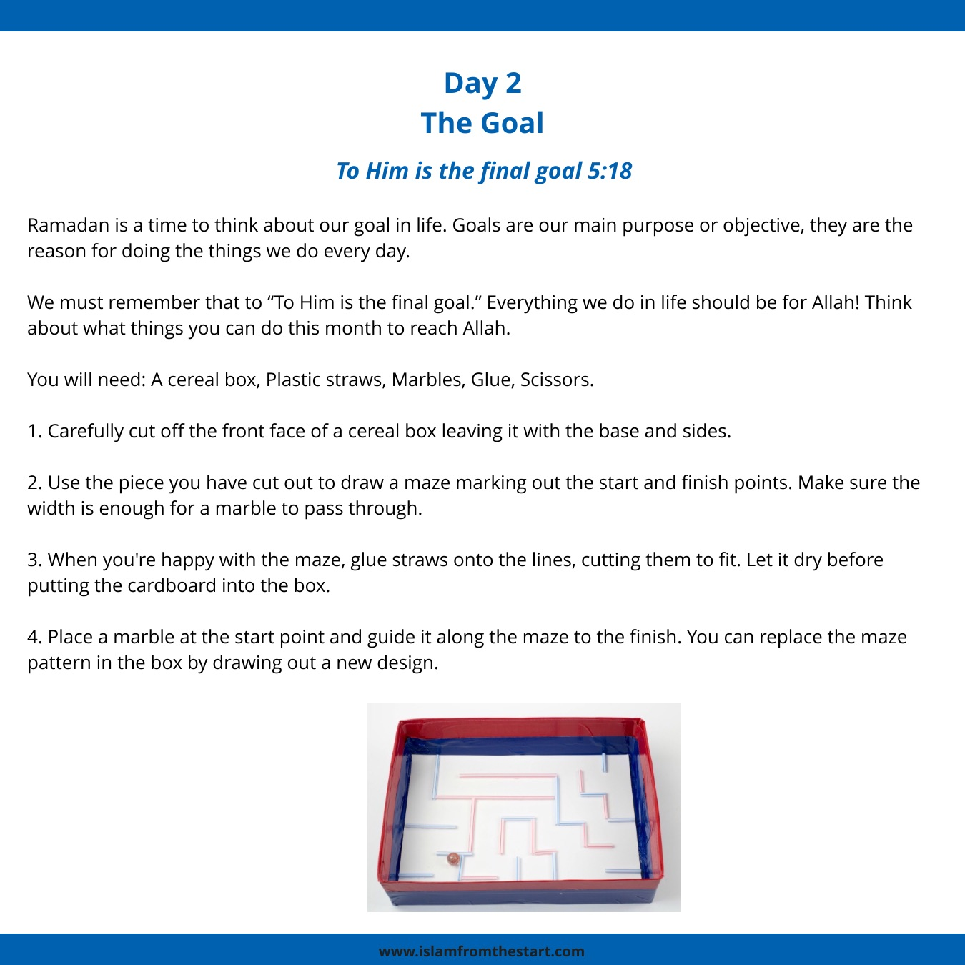 30 Days Of Quranic Crafts Day 2