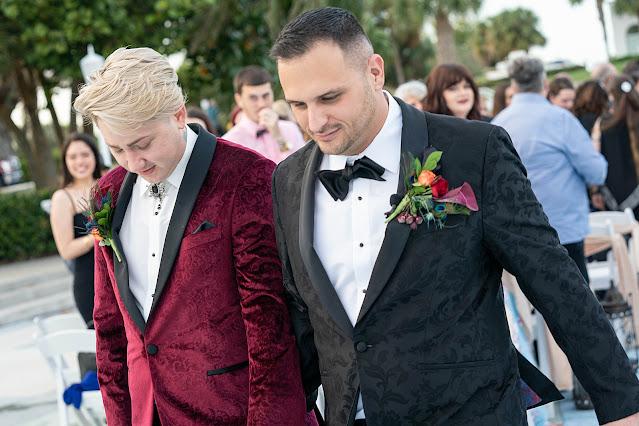 Wedding Ceremony outside the Mansion at Tuckahoe Jensen Beach FL Wedding Venue