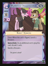 My Little Pony Mysterious Disappearance Defenders of Equestria CCG Card