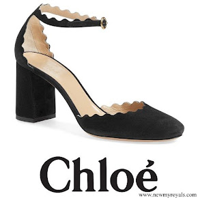 Princess Madeleine wore Chloé Scalloped Ankle Strap d'Orsay Pump