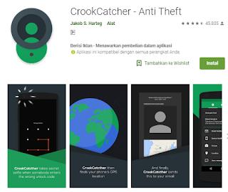 Aplikasi pengaman android foto wajah pencuri - Crookcatcher