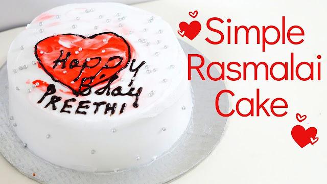 Simple Rasmalai Cake - Eggless Rasmalai Cake