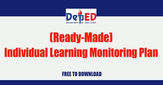 Individual Learning Monitoring Plan (Sample)