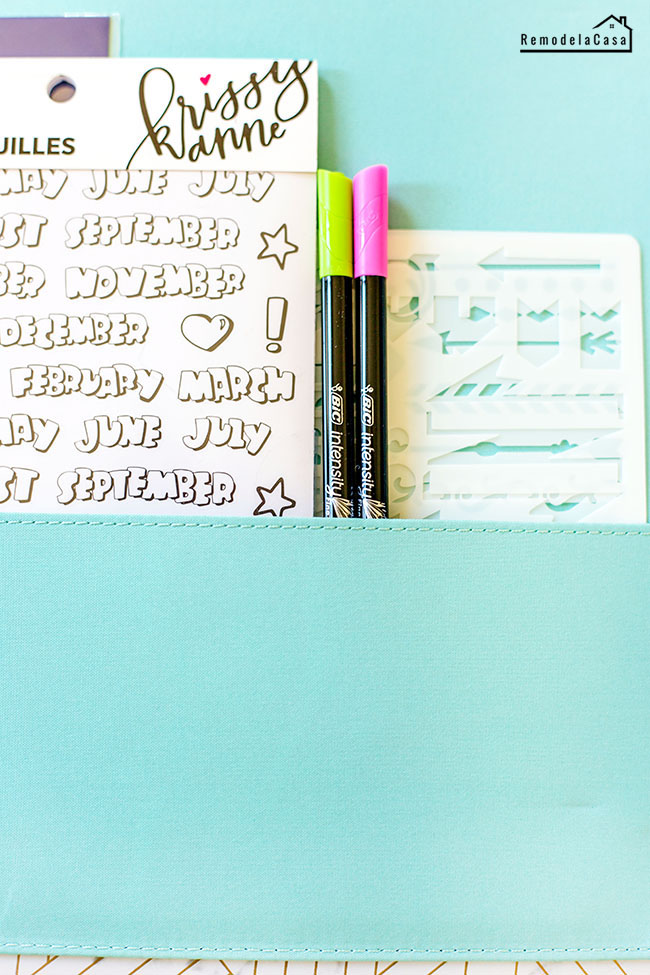 BIC intensity pens - stencils and stickers for planner