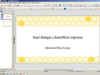 tampilan LibreOffice Impress