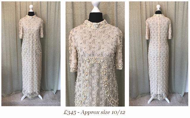 1960s Beaded Vintage Wedding Dress