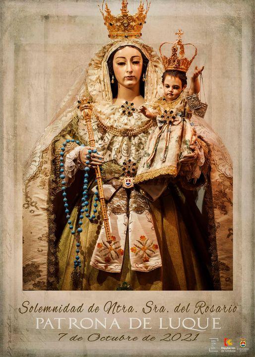 Cartel de la Celebración de la Virgen del Rosario Patrona de Luque 2021