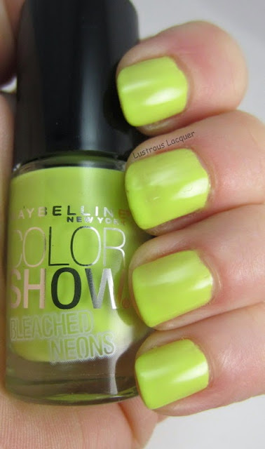 Maybelline Lime Accent Bleached Neons Collection