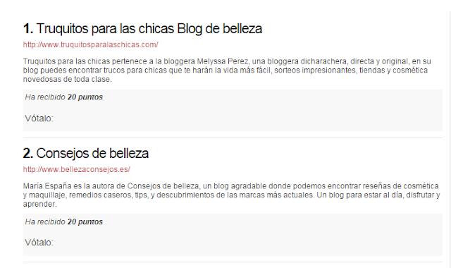 blog de belleza influyente