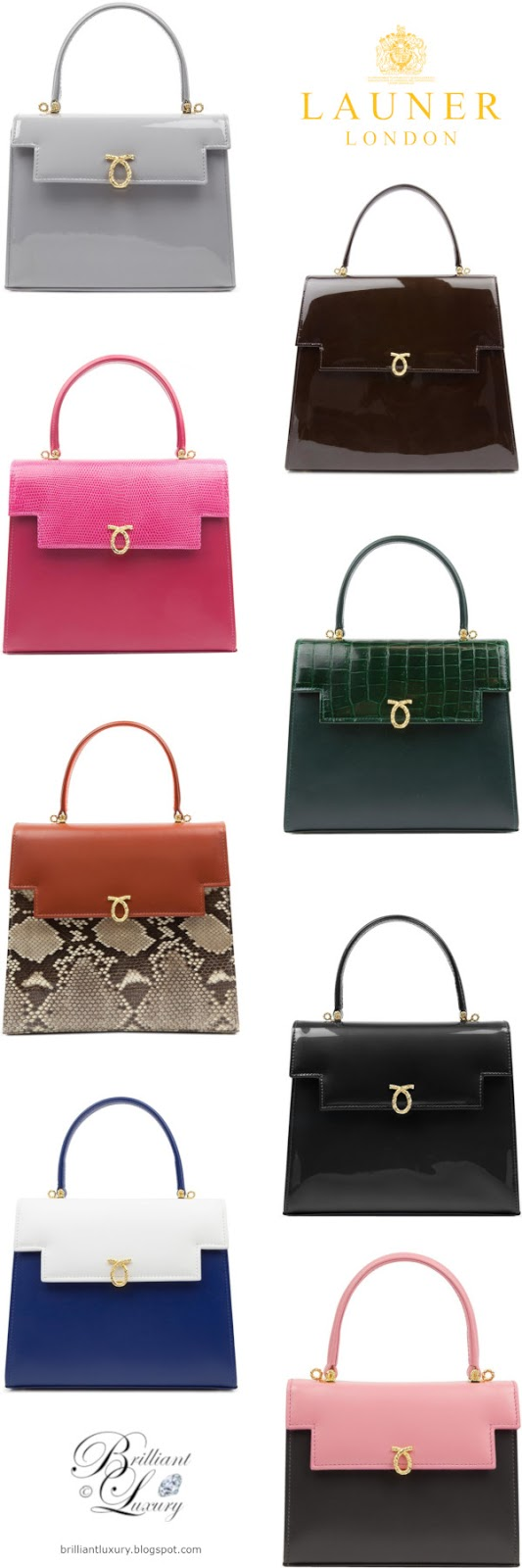 Brilliant Luxury ♦ Launer London Royal Handbags