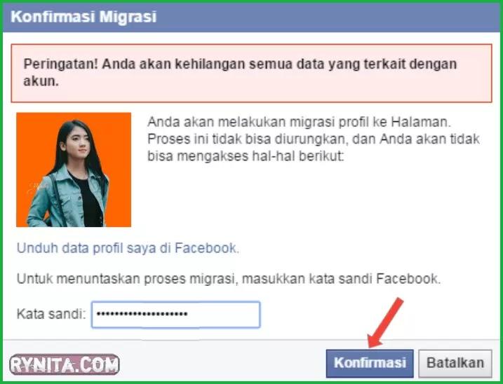 cara merubah profil fb menjadi halaman fanspage