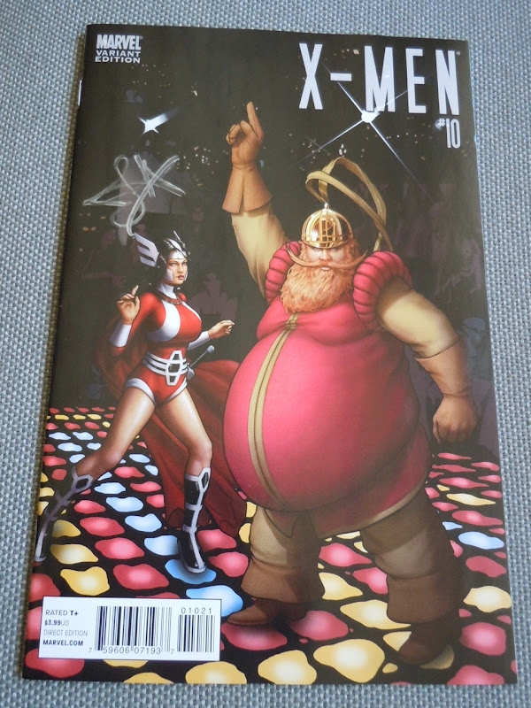 Signed Sif and Volstagg X-Men variant comic