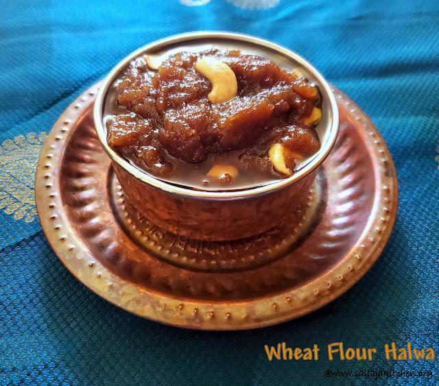 images of Quick Wheat Flour Halwa / Atta Halwa / Godhumai Maavu Halwa / Wheat Flour Halwa / Aate Ka Halwa / Atte Ka Halwa