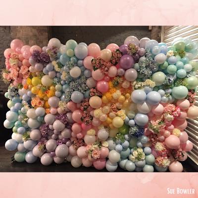 Organic Balloon & Flower Wall by Sue Bowler