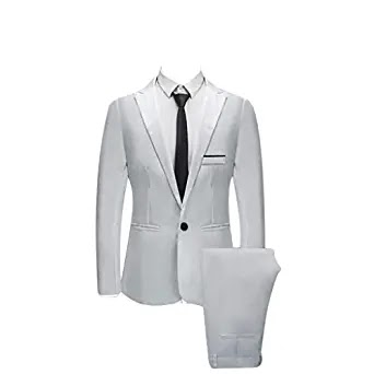 Men Slim Button Suit
