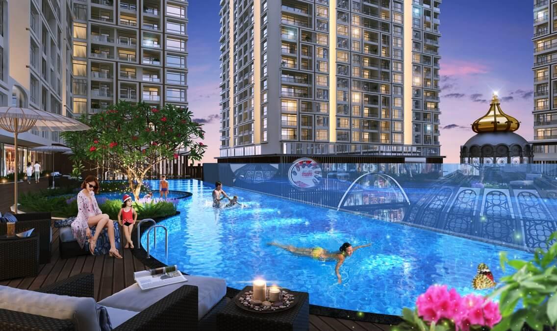 Bể bơi lâu đài Thuỷ kính của dự án Hinode City Minh Khai