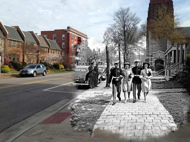 Easter Sunday 5 April 1942 compared to 2015 in Virginia, worldwartwo.filminspector.com
