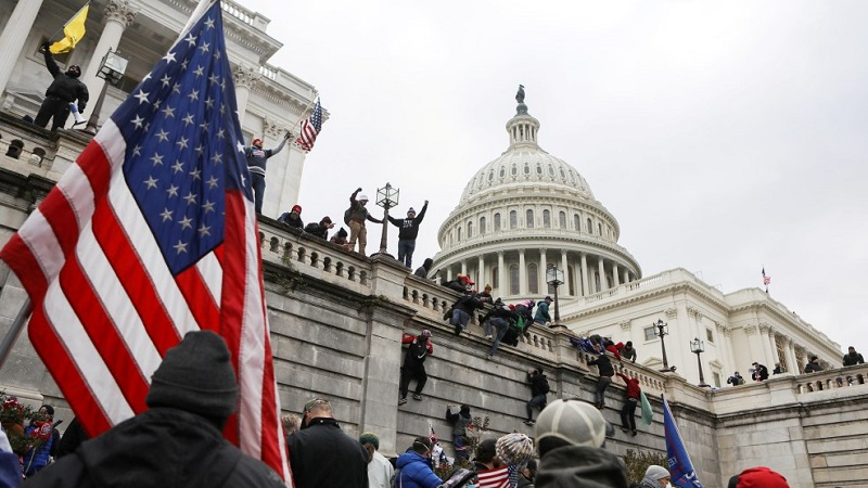 Protest in Capitol Hill, Washington DC, America, USA