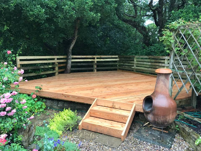 Larch timber deck wales