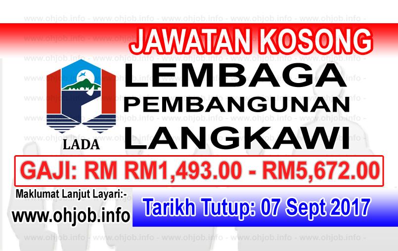 Jawatan Kerja Kosong Lembaga Pembangunan Langkawi - LADA logo www.ohjob.info september 2017