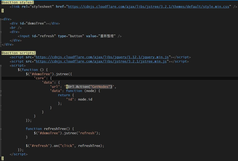 張BCの隨筆: [jQuery] refresh jsTree(3 2 1) 搭配ASP NET MVC與json