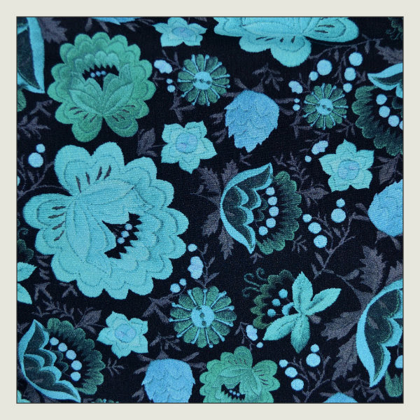 asos green floral wiggle dress fabric detail
