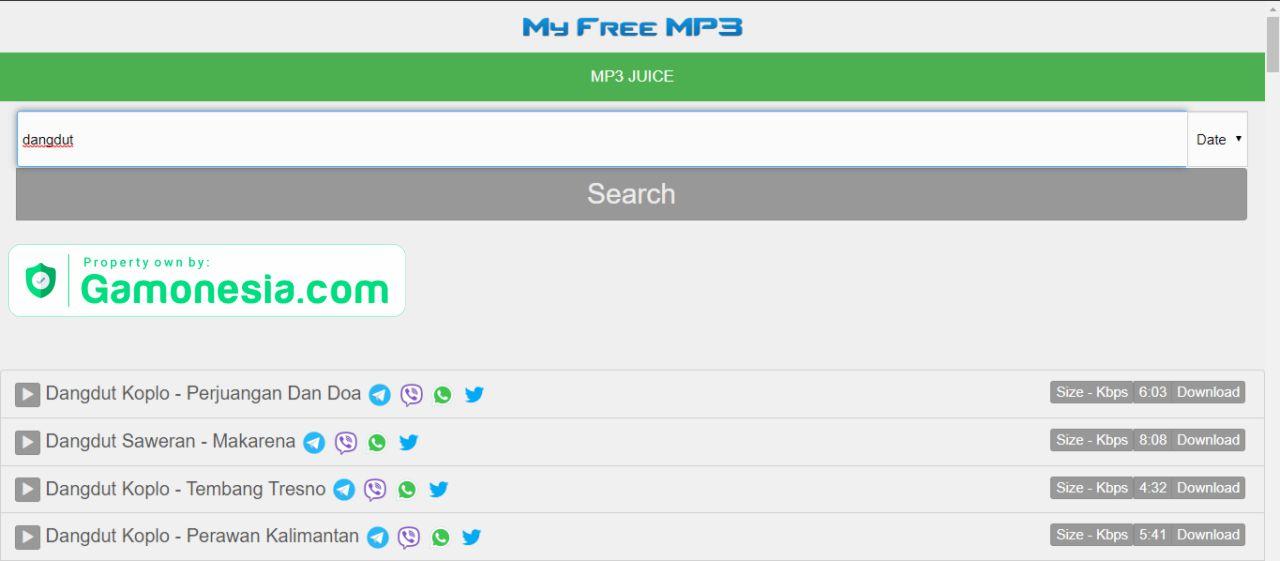 myfreemp3 tempat download lagu terbaru