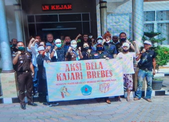 Aksi Ujuk Rasa Aliansi Masyarakat Peduli Pembangunan Kabupaten  Brebes ( AMPP )  Pertanyakan Kinerja Kejari Brebes