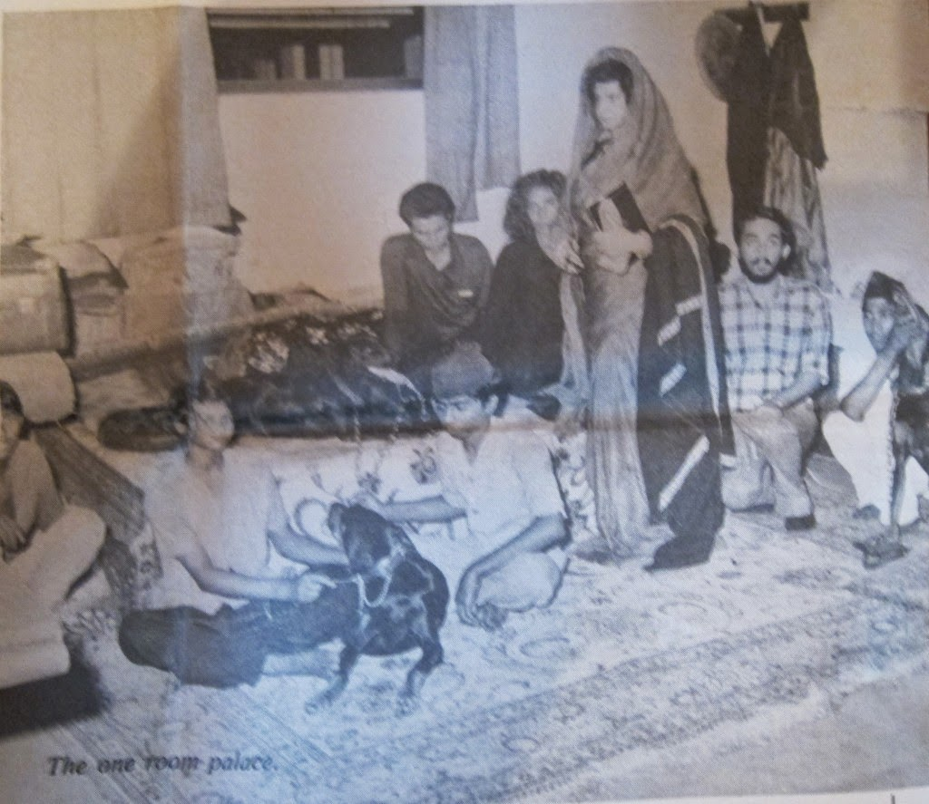 Royal family living in first class waiting room New Delhi Railway station 1981