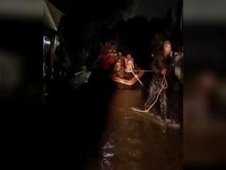 भोपाल की इंडस कॉलोनी में घुसा कलियासोत नदी का पानी, कई लोग फंसे