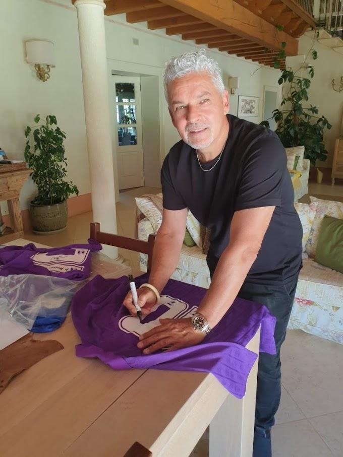 """Roberto Baggio: all'asta le maglie del """"Divin Codino"""" a favore dell'Aisla"""