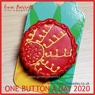 One Button a Day 2020 by Gina Barrett - Day 72: No Man's Sun