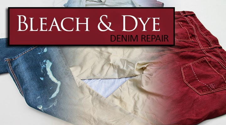 Bleach damaged jeans can be fully bleach and dyed a new color! | The Inspired Wren