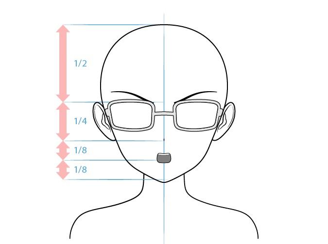 Anime kutu buku karakter perempuan gambar wajah penasaran