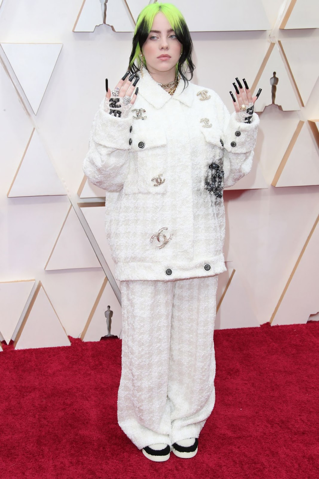 Billie Eilish walks the 2020 Oscars red carpet in head to toe Chanel