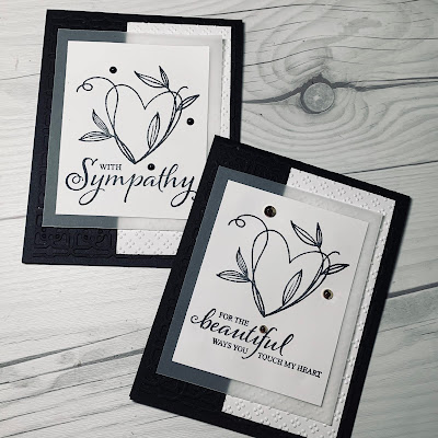 Two Black and White greeting cards using Heart images