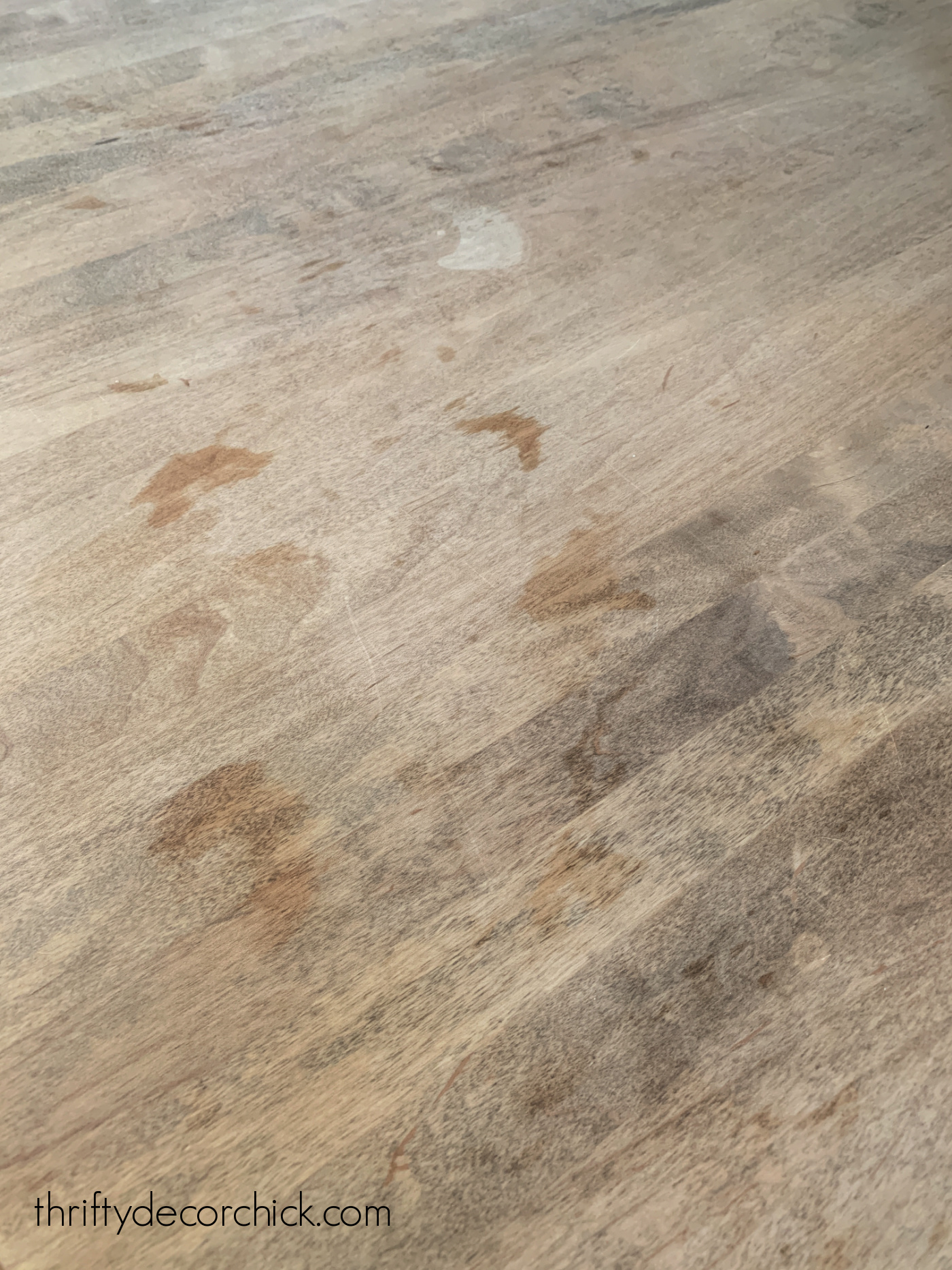 stains in wood countertops