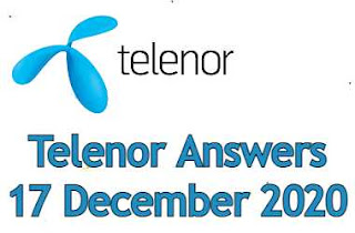 17 December Telenor Quiz | Telenor Answers 17 December 2020