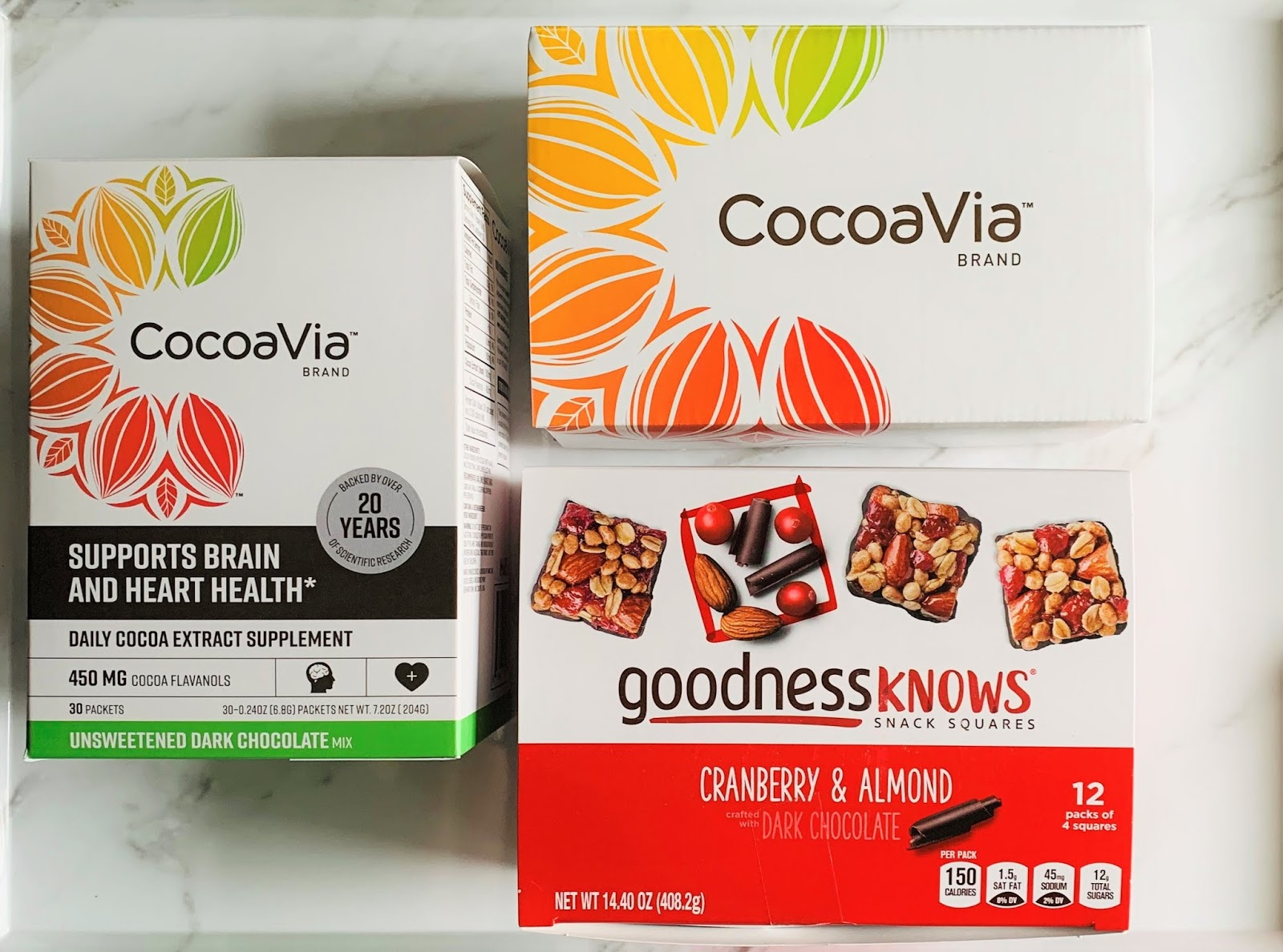 CocoaVia™products I received for review