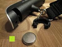 Batteriefach: Tragbare elektronische Waage Gepäckwaage silber