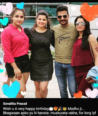sonlika Prasad Birthday with co star