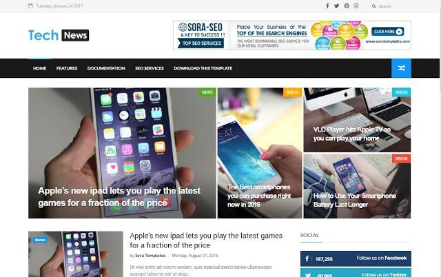 Blogger teknoloji teması